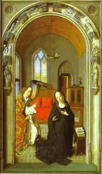 The annunciation 1445 xx museo del prado madrid spain
